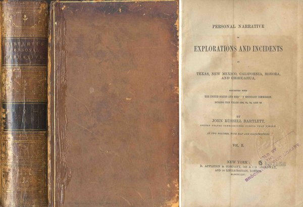 Book Explorations John Russell Bartlet First Edition