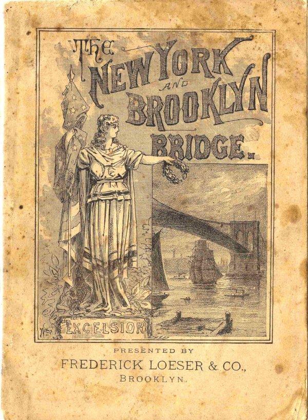1324: Book Booklet NYC Brooklyn Bridge Opening Ceremony