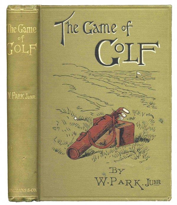 1325: Book Game Golf William Park Junior Rare 1896 Spor