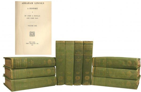 1327: Abraham Lincoln John Nicolay Hay 1st Edition Book