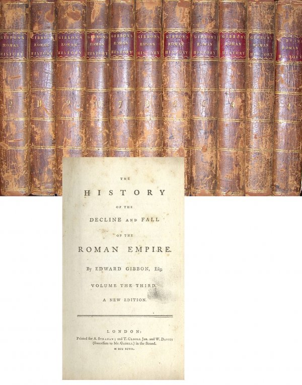 1328: Decline Fall Roman Empire Edward Gibbon Volumes 1