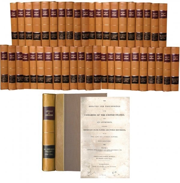 1603: Book Annals Congress First Edition Constitution V