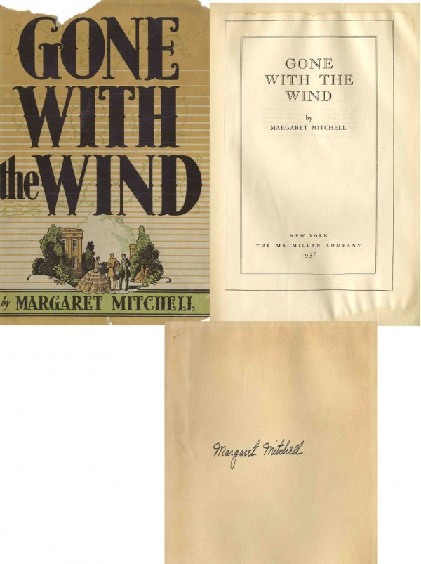 1604: Signed Gone With The Wind 1st Edition Print Book