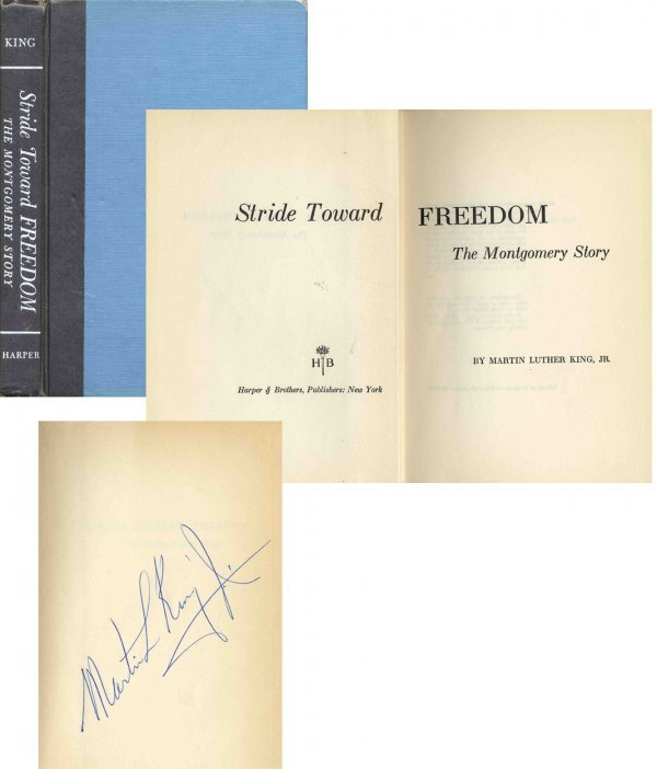 1607: Book Signed Martin Luther King First 1st Edition