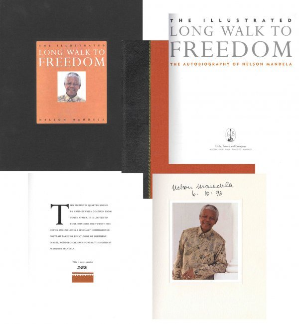 1608: Book Nelson Mandela Signed Limited Edition Long W