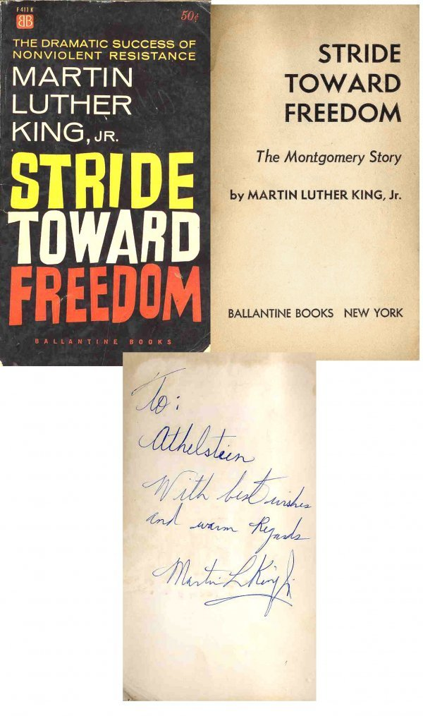 1609: Book Martin Luther King Jr Signed Stride Toward F