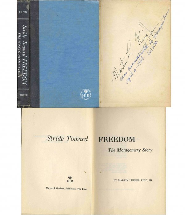 1610: Book Martin Luther King Stride Signed First 1st E