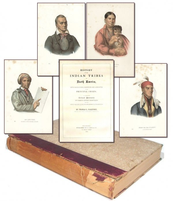 1611: Book History Indian Tribes Thomas McKenney 1874 V