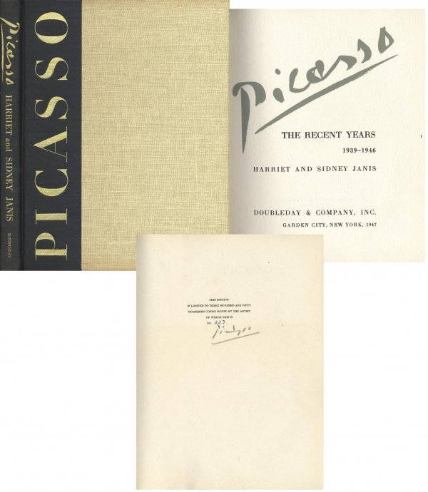 1615: Book Pablo Picasso Recent Works Signed Limited Ed