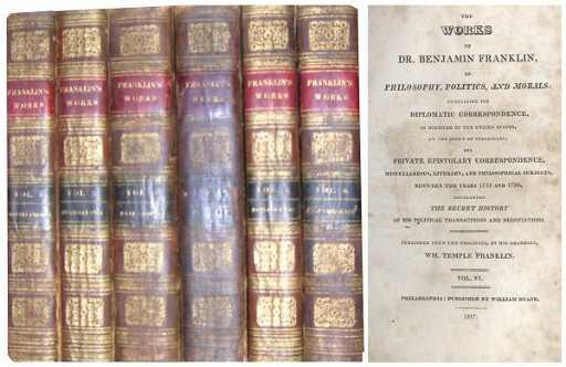 1616 Memoirs Writings Benjamin Franklin First Edition