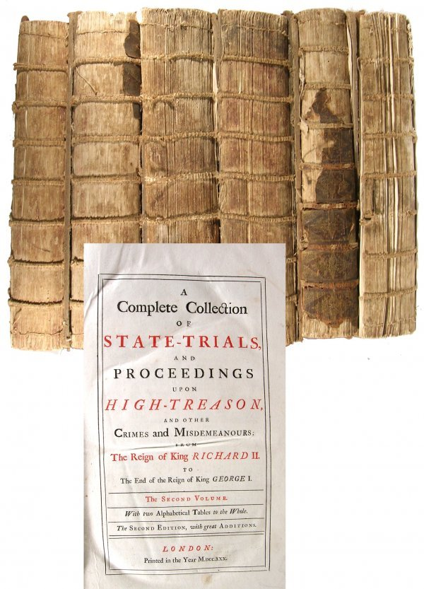 1618: Book England State Trials 1730 Treason Francis Ba