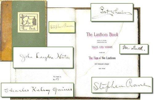 1620: Book Signed Stephen Crane Lanthorn First 1st Edit