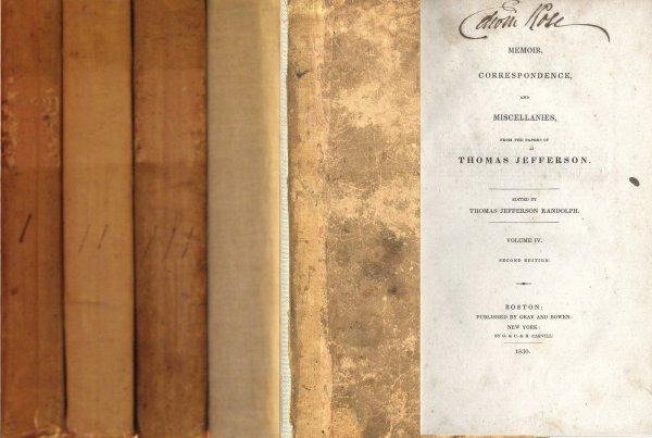 1626: Book Volume Thomas Jefferson Randolph Memoirs Wri