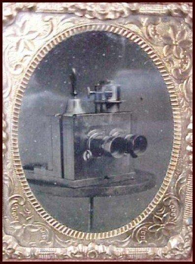 1911: Ninth-Plate Tintype Box Camera Photo Unusual Pic