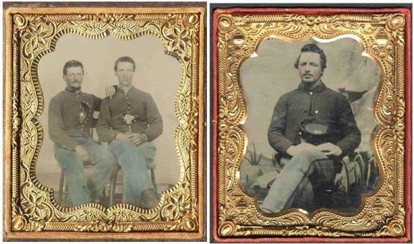 1920: Civil War Soldier Tintype Union Officer Uniform P