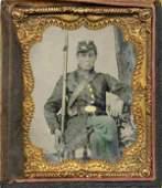 2128: Civil War Ambrotype Yankee Private Photo
