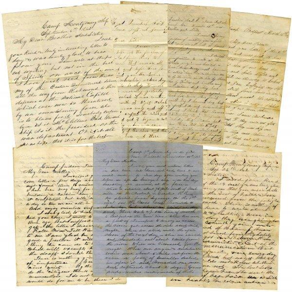 2229: Civil War Soldier Iowa 7th Infantry ALS Lot Battl