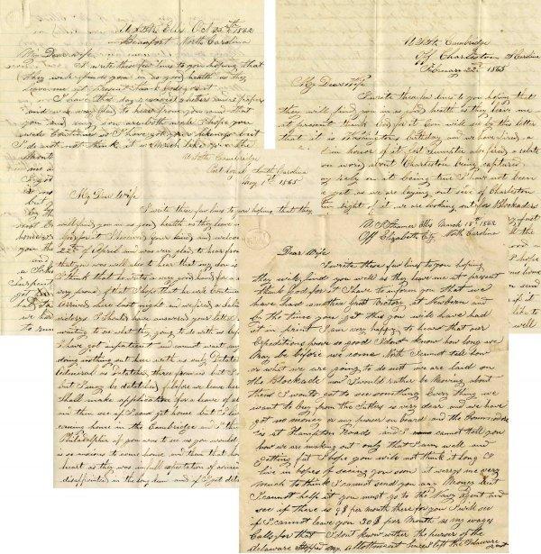 2235: Civil War Soldier ALS Lot Naval Engineer Battle L