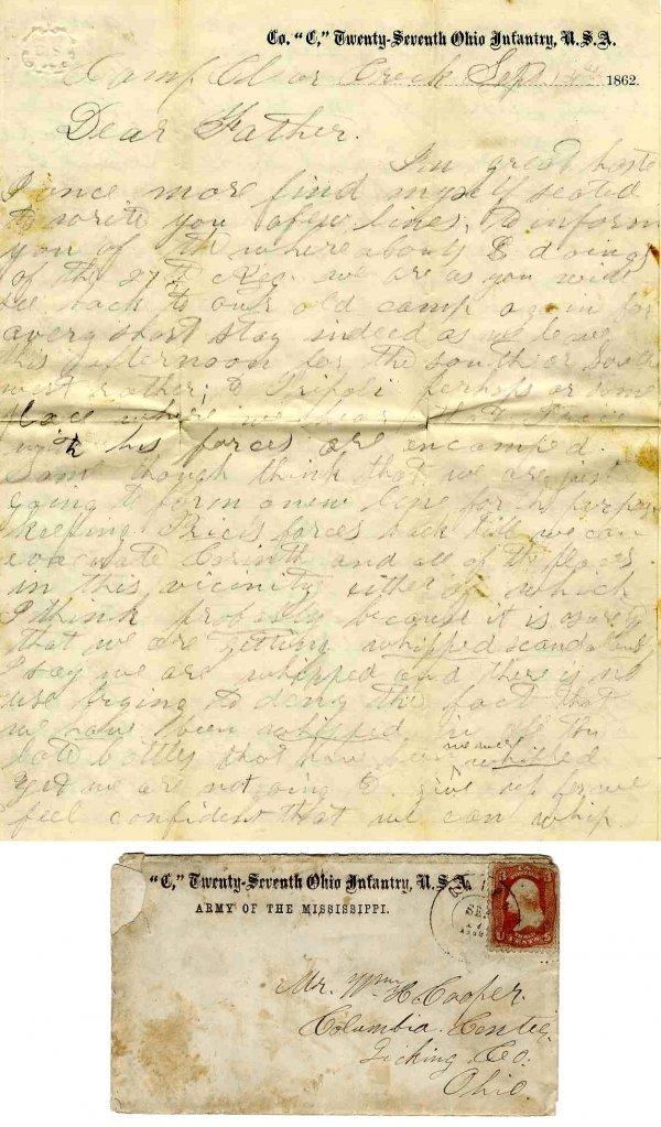 2237: Civil War Soldier Ohio 27th Infantry WIA ALS CW 1