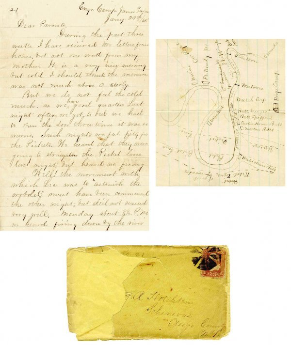 2238: Civil War Soldier NY 1st Engineers Signed Letter
