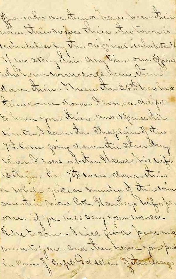 2240: Civil War Soldier CT 10th Infantry Signed Letter