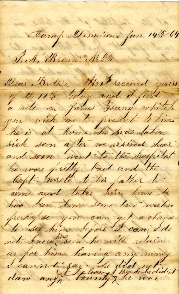 2242: Civil War Soldier Ohio 9th Cavalry Signed Letter