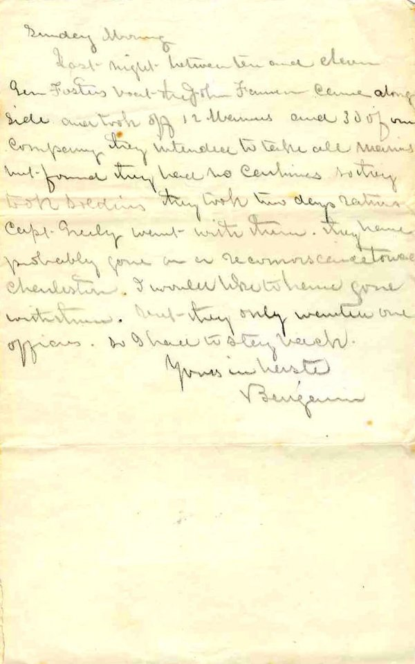 2245: Civil War Soldier CT 10th Infantry Signed Letter