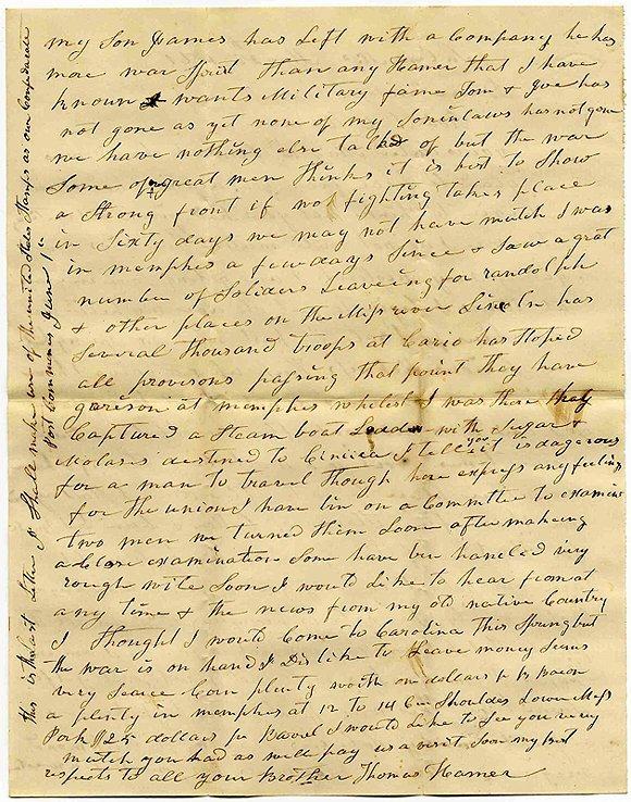 2247: Civil War Soldier Confederate ALS Father MA 1861
