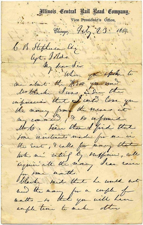 2248: Pre-Civil War General George McClellan Signed Let