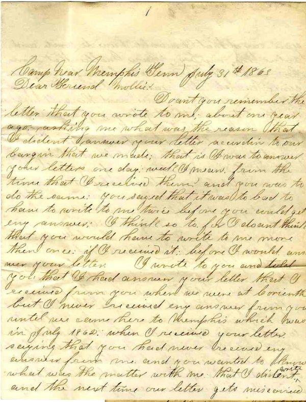 2294: Civil War Soldier Tennessee Signed Letter 1863 AL