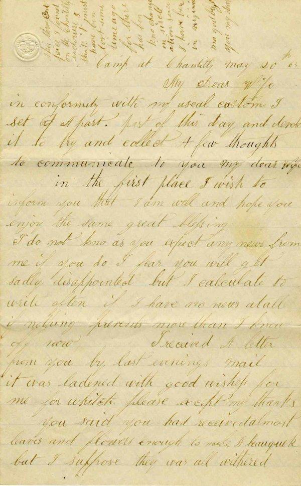 2470: Civil War Soldier Maine 27th Infantry Signed Lett