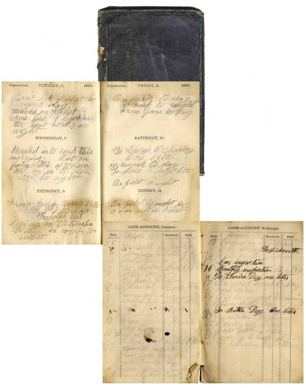 2581 Civil War Solider 11th Maine Infantry Battle Diary