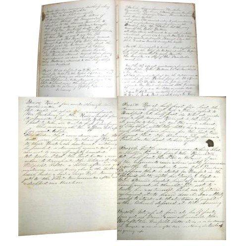 2583: Civil War Soldier Diary Union Naval Captain Sea B