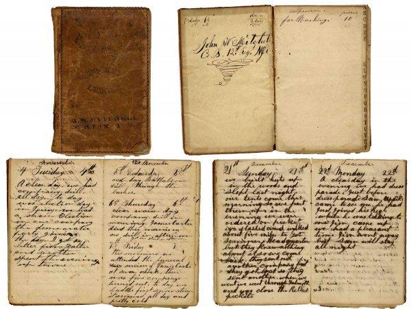 2586: Civil War Soldier Diary 12th NJ Infantry Petersbu