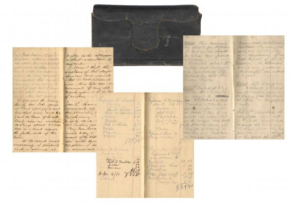 2588: Civil War Soldier 32nd WI Infantry Diary Forrest