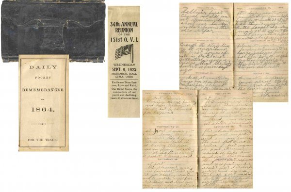 2590: Civil War Soldier 151st OH Infantry Diary Lincoln