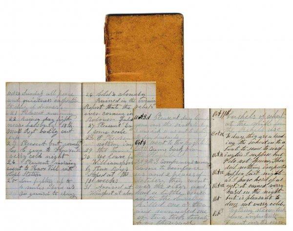 2591: Civil War Soldier 13th MA Infantry Diary 1861 McC