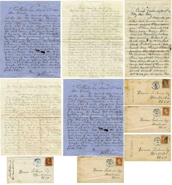 2594: Civil War Soldier 4rd MN Infantry ALS Signed Lett