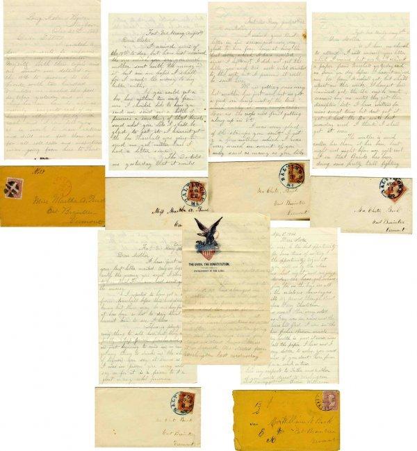 2595: Civil War Soldier ALS Lot 1st VT Cavalry Union Le