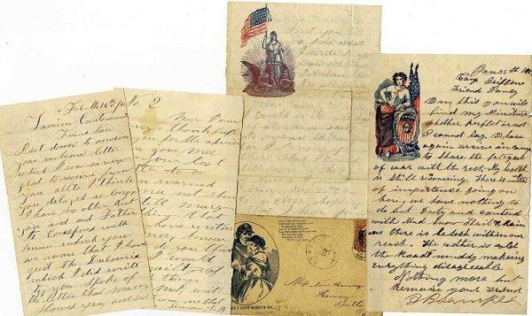 2599: Civil War Soldier ALS Union PA Letter Signed Lot