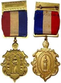 2607: Civil War Service Medal History Brooklyn 1866 Uni