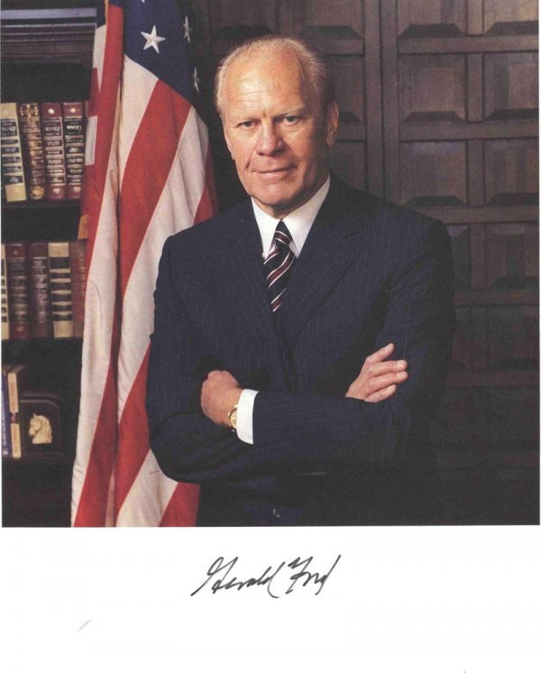 Gerald Ford President Signed Photo Presidential History