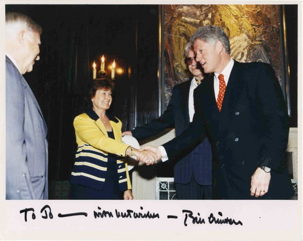 Bill Clinton Signed Photo President Monte Hall