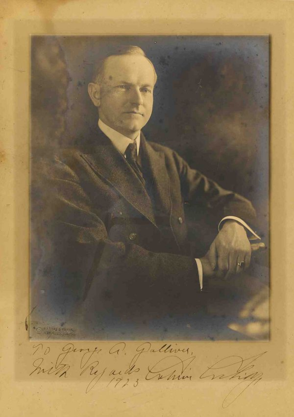 President Calvin Coolidge Signed Photo Autograph