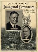 Herbert Hoover Curtis President Inauguration Program