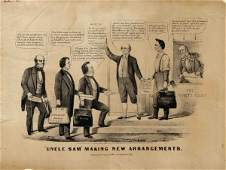 Currier Ives Political Cartoon Victory Abraham Lincoln