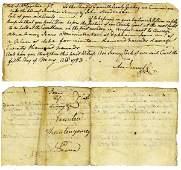 1783 John Penn Document Signed Declaration Independence