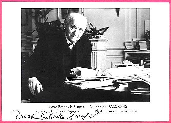 Isaac Bashevis Singer Signed Photo Enemies Love Story