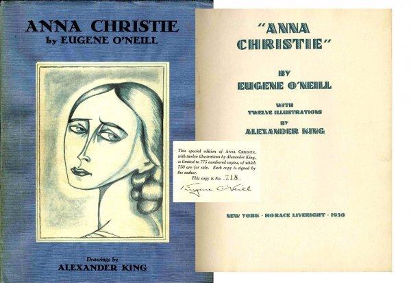 Book Anna Christie Eugene O'Neill Signed Play 1930 DJ