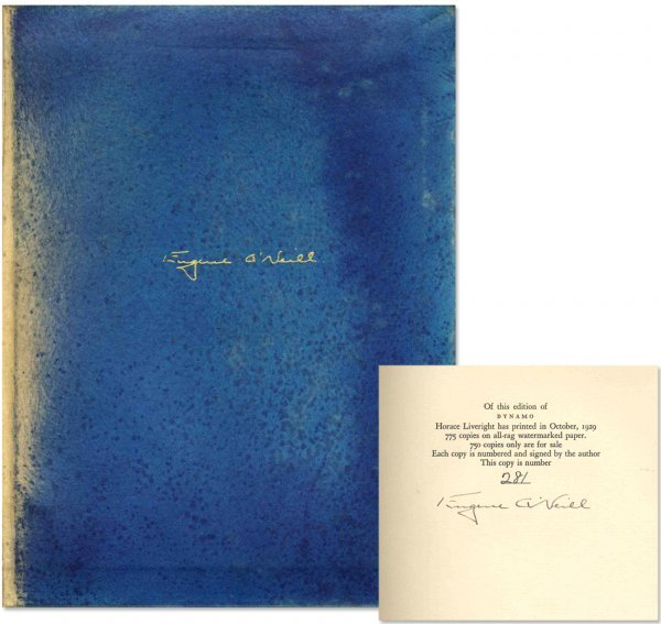 Book Eugene O'Neill Dynamo Signed First 1st Edition Sig